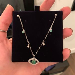 Swarovski Green Eye Necklace